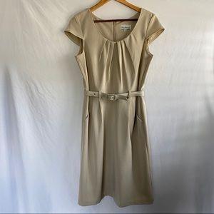 Olivia Mathews Taupe Cocktail Dress